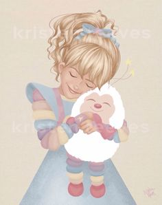 Rainbow Brite and Twink Children's Wall by ArtbyKristenReeves Wall Art Prints, Fine Art Prints, Cute Cartoon Characters, Thing 1, Rainbow Brite, Rainbow Unicorn, Disney Art, Nursery Art, Rainbow Colors