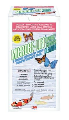 Spring/Summer Cleaner by Microbe-Lift by Microbe-Lift. $25.34. Package Depth-12.00. Package Width-12.00. Package Length-12.00. Accelerates the breakdown of leaves twigs and other accumulated dead organic waste. Helps to jump start your pond in the spring. Reduces buildup of dead leaves and residual organic sediment.