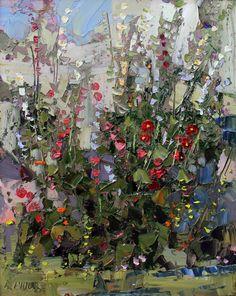 hollyhock-20x16 Cool Paintings, Landscape Paintings, Landscapes, Southwest Art, Oil Painting Flowers, Hollyhock, 2d Art, Magazine Art, Love Photography