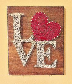 Valentines Day Love Sign String Art by KellysKrafts12 on Etsy