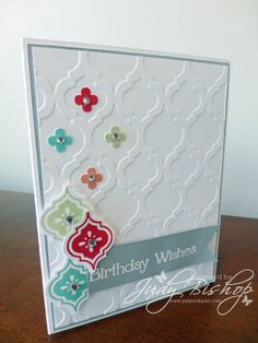 Mosaic Madness Birthday Card with flowers and gems