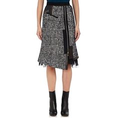 Kolor Women's Cotton-Blend Tweed Pencil Skirt ($1,435) ❤ liked on Polyvore featuring skirts, pencil skirt, ruffled pencil skirt, frilly skirt, layered ruffle skirt and ruffled skirts