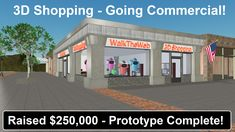 Aaron Dishno is raising funds for Shopping with WalkTheWeb Technology! Online Stores for businesses that blur Games with Virtual Real-World Experiences. 3d Camera, Commercial, Technology, Building, Shopping, Tech, Buildings, Tecnologia, Construction