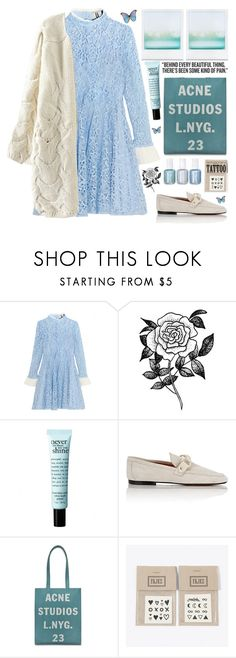 """Blue feelings ...."" by karineminzonwilson ❤ liked on Polyvore featuring Topshop Unique, Forever 21, philosophy, Isabel Marant, Acne Studios, Chanel, NAVUCKO, Blue, girly and cardigan"