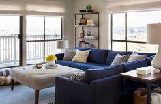 20 Impressive Blue Sofa in the Living Room