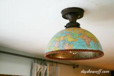 diy lighting using a globe