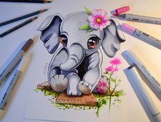 Elephant by Lighane's Artblog