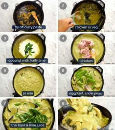 Thai Green Curry made quick and easy by pimping up store bought curry paste OR with a homemade green curry paste. Better than your local Thai place! Veg Recipes, World Recipes, Asian Recipes, Cooking Recipes, Thai Curry Recipes, Asian Foods, Healthy Recipes, Yummy Recipes, Sauces