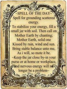 Magick Spells:  #Spell for #Grounding.  Look I'm no Wiccan...I'm just saying i know about 7 women who could use this as the new school year starts!