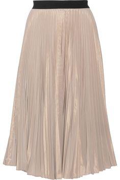 TOME Plissé-Taffeta Midi Skirt. #tome #cloth #skirt