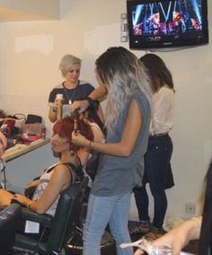 Lou Teasdale at the X factor