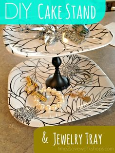 DIY Cupcake Stand/Jewelry Catch All