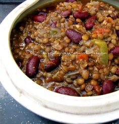 Lentil Chili Recipe - Spicy Low Fat Meatless Chile Recipe With Lentils
