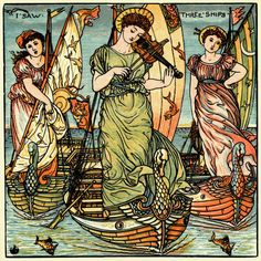 I Saw Three Ships… from A Baby's Opera, by Walter Crane, c.1900