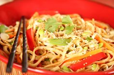 chinese cold noodles with peanut sauce