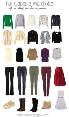 Fall Capsule Wardrobe of a Stay at Home Mom.