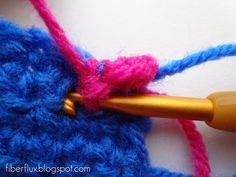 Fibra Flux ... Aventuras en costura: Cómo Crochet Manta puntada ribete
