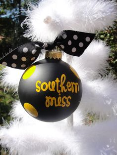 Custom Personalized College Christmas Ornament. $14.00, via Etsy. @southernmiss