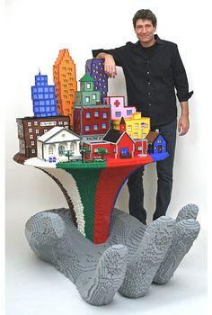 Right now, Nathan has an inventory of 1.5 million LEGO bricks to use on his sculptures, at his New York studio and says his largest artwork was made up of about half-a-million bricks. His LEGO works are now as valuable as they are beautiful, selling for more than $10,000 each.