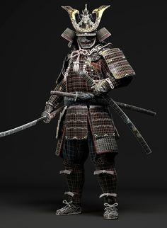 ArtStation - Samurai, Minhyuk Kim Japanese Leg Tattoo, Japanese Legs, Viking Armor, Medieval Armor, Kabuto Samurai, Samourai Tattoo, Bushido, Samurai Artwork, Japanese Warrior