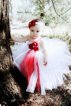 Red and White Flower girl Dress! Don't forget red personalized napkins to match your theme!!! #itsallinthedetails #redwedding www.napkinspersonalized.com