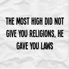Laws, not religion.