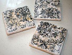 DIY Ceramic Tile Coasters
