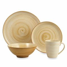 Sango Patio Brown 16 Piece Dinnerware Set   Bed Bath U0026 Beyond 59.99 Comes  In Other Colors I Love The Swirl. | Divine Dinnerware | Pinterest |  Dinnerware, ...