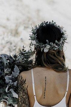 Boho Wedding - Greenery Crown - Eucalyptus Crown - Dried Flower Crown- Hair Vine - Sage Headband - Bridal Crown - Organic Wedding Headpiece - Green Halo - Veil Alternative - Bride Hair Accessories #weddings #weddingdresses #weddingflowers #bohoweddings #weddingcrowns