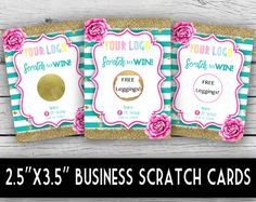 Win Free Stuff, Free Leggings, Scratch Off Cards, Pink Peonies, Note Cards, Stationery, Graphic Design, Birthday, Stationeries