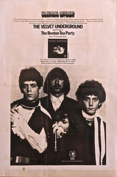 The Velvet Underground, poster advertising a series of shows at the Boston Tea Party, May 1969