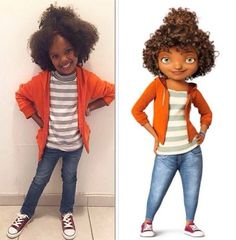 Representation Matters: Girls Dressed as Rihanna's Character Tip from the Movie Home for Halloween:  Representation matters for our little black girls. Just yesterday we posted about Viola Davis' daughter Genesis wanting to dress as her for Halloween. Today we learned that little black girls dressed as Rihanna's character Tip from the Dreamworks movie Home. Home is the studio's first film featuring a black character and it was a smash hit at the box office