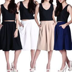 Pleated Cullotes (JP147) - http://www.afwindo.com/shopdiscount/pleated-cullotes-jp147/