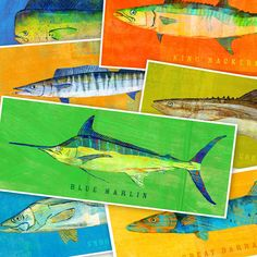 SALE Saltwater Fish Art The Big One Fish Print Pick by johnwgolden\