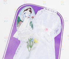 Vintage 70s Doll Wedding Dress Girl Doll Accessories Doll