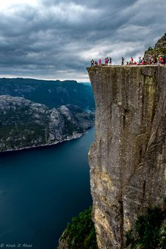 Pulpit Rock, Ryfylke, Norway photo by knut - this is a fantastic climb and gorgeous views of Lysefjiord Places Around The World, Oh The Places You'll Go, Travel Around The World, Places To Travel, Places To Visit, Around The Worlds, Wonderful Places, Beautiful Places, Lillehammer