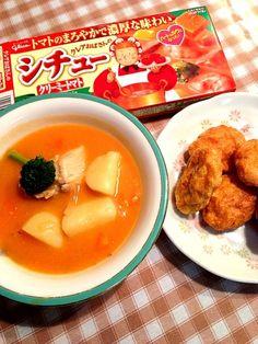 微かなトマト味 - 8件のもぐもぐ - トマトクリームシチュー*ナゲット by imotomochi