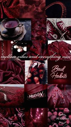 Burgundy Aesthetic, Aesthetic Look, Aesthetic Colors, Aesthetic Collage, Wallpaper Tumblrs, Red Wallpaper, Wallpaper Display, Wallpaper Desktop, Wallpaper Quotes