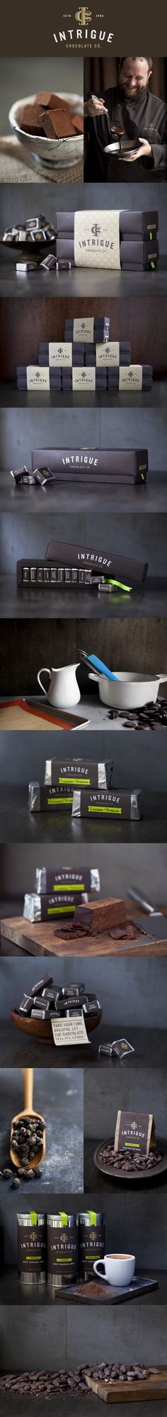 Intrigue Chocolate Co. by Jason Grube, via Behance