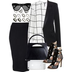 Untitled #398 by itscatia on Polyvore featuring Warehouse, Yves Saint Laurent, Witchery, SJP, J.W. Anderson, ASOS and Linda Farrow