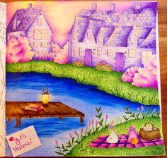 Sonnenaufgang am See in Romantic Country #adultcoloring #eriy #romanticcountry #romanticcountrycoloringbook #coloringbook #prismacolor #malenfürerwachsene