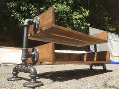 Industrial shoe rack: Reclaimed wood metal shoe by GrainAndMetalCo Industrial Shoe Rack, Metal Shoe Rack, Shoe Racks, Shoe Rack Reclaimed Wood, Pipe Table, Wood Pieces, Wood And Metal, John Lewis, Wood Projects