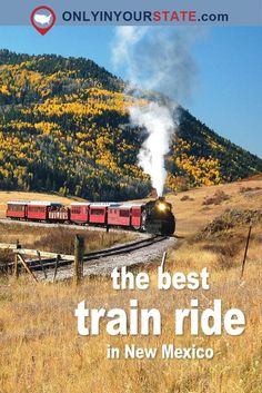 If you were wondering which train ride is the best in the U., look no further than New Mexico. Board this historic steam train and admire astonishing scenery. New Mexico Vacation, New Mexico Road Trip, Travel New Mexico, Us Road Trip, Tennessee Vacation, Vacation Deals, Travel Deals, Travel Hacks, Travel Essentials
