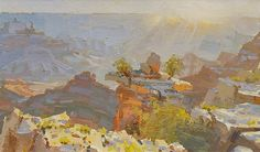 Mike Hernandez Early morning light from Mather Point Grand Canyon gouache Sketch Painting, Gouache Painting, Drawing Sketches, Painting Art, Art Paintings, Drawings, Contemporary Landscape, Landscape Art, Landscape Paintings