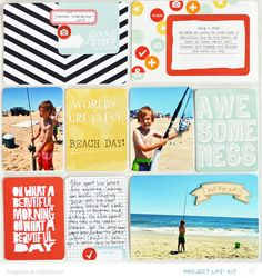 beach trip (left side) by StephWashburn at @studio_calico - Project Life kit