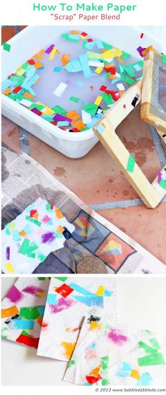 Teach your kids about recycling with this fun paper making activity. It's the perfect blend of science, art, and design for kids!