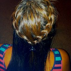 "Half up french braid ""crown"""