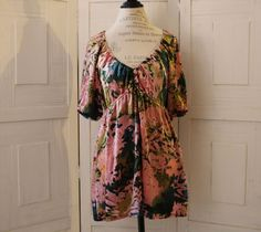 Anthropologie Floral Summer Blouse By Hale Bob Gold & Craft Size L Comfortable