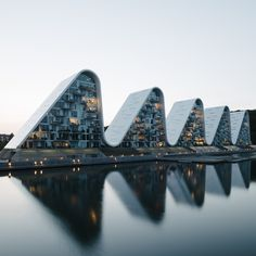 Dezeen Awards 2019 architecture longlist announced: The Wave, Vejle, Denmark, by Henning Larsen is one of 26 projects long listed for housing project Henning Larsen, Open Architecture, Contemporary Architecture, Architecture Diagrams, Architecture Portfolio, Organic Architecture, Underwater Restaurant, David Chipperfield Architects, Vejle