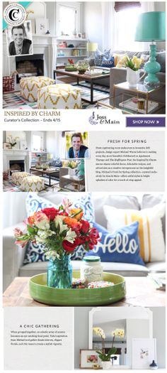 Inspired by Charm curates a spring-inspired collection for Joss & Main! Check it out: http://www.inspiredbycharm.com/2014/04/ibc-on-joss-main.html